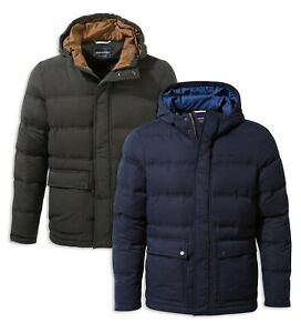 Craghoppers-Mens-Campellio-Water-Resistant-Insulated-Hooded-Jacket-Grey-RRP-150