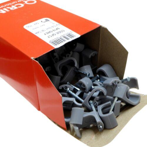\Nail-in Cable Clips pour t/&e Jumeaux Et Terre Câble 1.5 mm 2.5 mm 4 mm 6 mm 10 mm 16 mm
