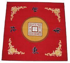 "31"" Red Slip Slide Resistant Mahjong Domino Card Game Table cover Mat"