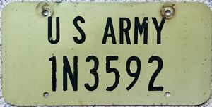 GENUINE-Rare-United-States-ARMY-USA-License-Licence-Number-Plate-Tag-1N3592