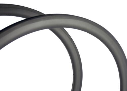 700C Full Carbon Rims 40mm Depth 25mm Width Clincher Carbon Bicycle Rim Road