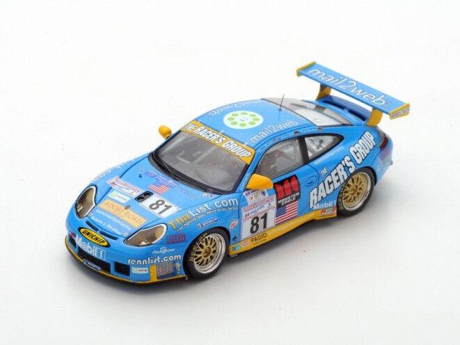 Spark Model 1 43 S5517 Porsche 996 GT3 RS Le Mans 2002 Winner LM GT Class