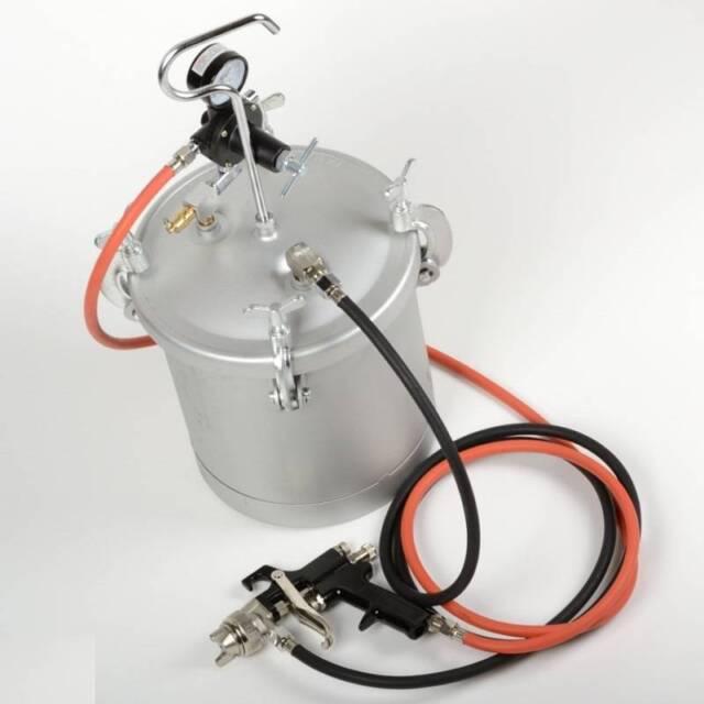 High Pressure Pot Air Paint Spray Gun 2 1 4 Gallon Industrial Painting Painter