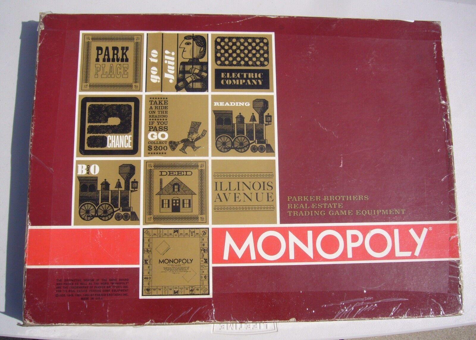 Jahrgang 1964 monopol parker brothers rote kiste alle karten 30house 11hotel 12tokens