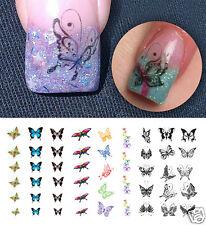 Butterfly Assortment Nail Art Waterslide Decals - Salon Quality!