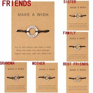 Fashion-Handmade-Braid-Rope-Friendship-Bracelet-Adjustable-Family-Jewelry-Gift