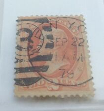 1879 USA 2c Orange Jackson soft paper Stamp Nat Bank Co. used