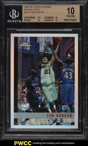1997-Topps-Chrome-Refractor-Tim-Duncan-ROOKIE-RC-115-BGS-10-PRISTINE