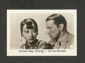 ANNA-MAY-WONG-CLIVE-BROOK-CARD-VINTAGE-1930s-COLLECTION-ROSS-RAMSES-FILM-FOTOS