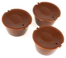 3 unid braguitas nachfüll cápsulas para Nescafe dolce gusto café reutilizables Refill
