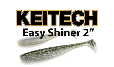 "Keitech Easy Shiner Swimbait 2/""  Soft Body Paddle Tail Swimbait Bass Lure 9pk"