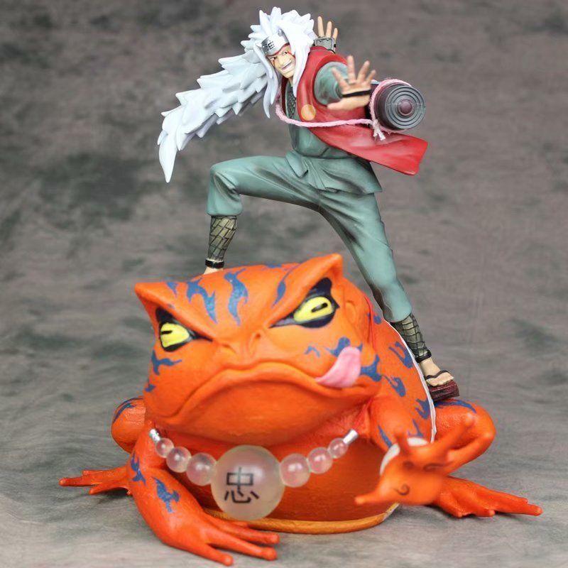 Hot Naruto Shippuden Jiraiya & Gama Bunta PVC Figure Toy Gift Collection in Box