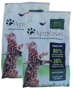 2 x 7,5 kg de Applaws Cat Adulte avec poulet et agneau, nourriture pour chats sans céréales