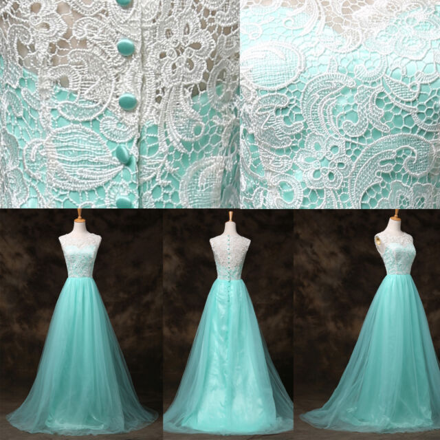 DESIGNER LACE Sexy Long Evening Gown Bridesmaid Dresses Prom Wedding Party Dress