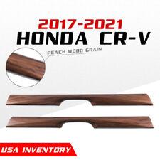 For 2017 2021 Honda Crv Cr V Peach Wood Grain Water Cup Holder Stripe Trim 2pcs