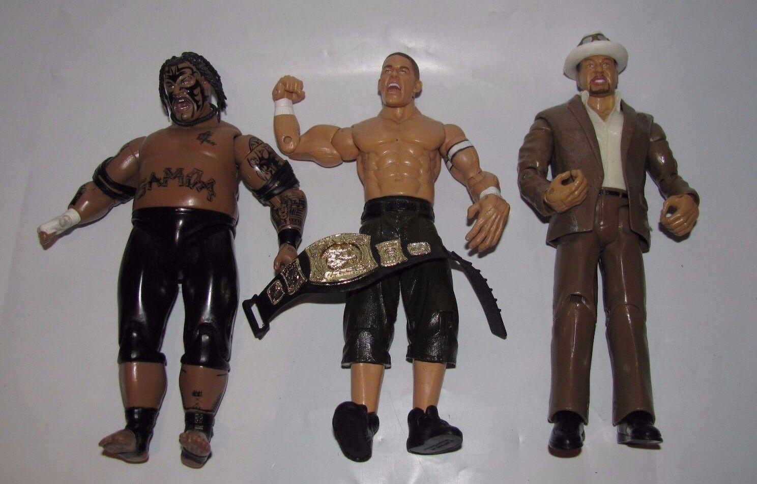 WWE JAKKS TREACHEROUS TRIOS SERIES 6 LOOSE FIGURES UMAGA JOHN CENA ESTRADA