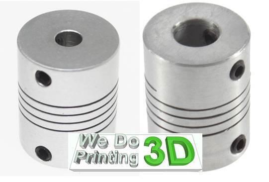 5x8mm Motor Shaft Coupler ideal for 3D printer shafts, Reprap, CNC - 5mm to 8mm