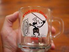DISNEY Mickey Steamboat Willie 1928 Commemorative Glass Tea Cup Coffee Mug