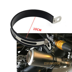 Motorcycle-Exhaust-Muffler-Silencer-Can-Hanger-10cm-Hanging-Clamp-Mount-Bracket