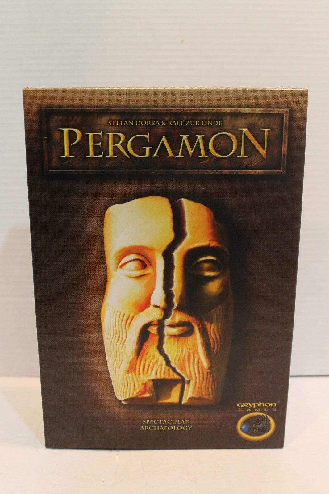 Pergamon jeu de plateau mettant Gryphon Stratégie Jeu de société Excellent box - 100% complet