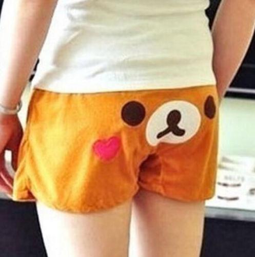 FD4345 Rilakkuma Relax Bear Lounge Sleep Shorts Sleepwear Bottom Short Pants☆