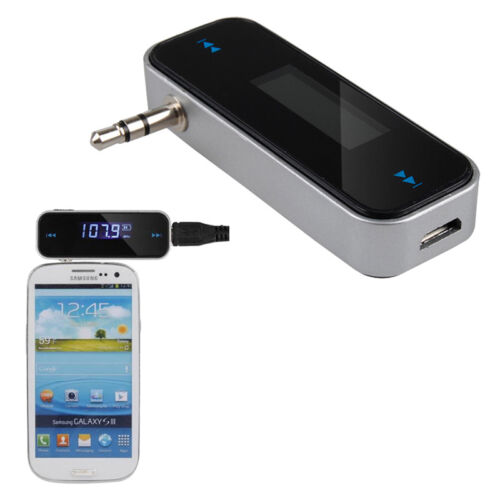 Wireless 3.5mm In-Car FM Radio Transmitter for iPhone iPod Samsung MP3 NEW