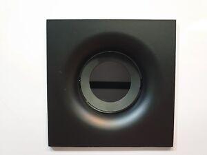 4-X-Grande-Cuadrado-Matt-Negro-GU10-Inclinable-Techo-Focos-Downlight-Empotrado