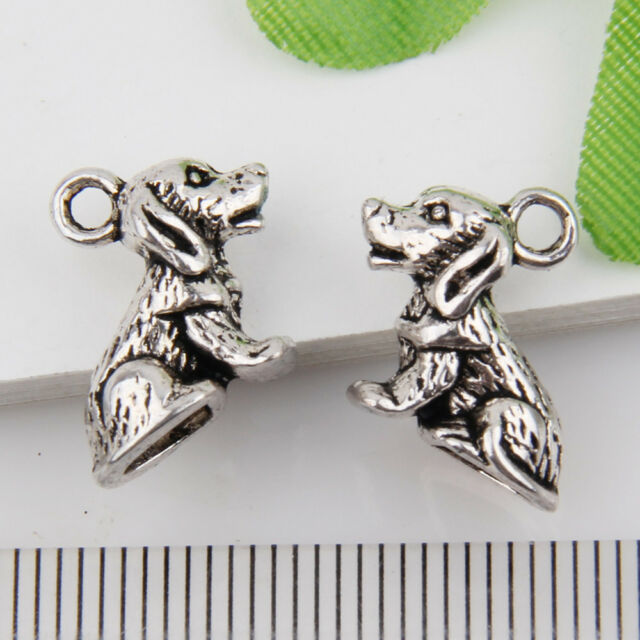 10pcs Wholesale Zinc Alloy 3d Dog Charms Pendants 13x10mm 1a1895 Ebay