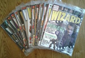WIZARD COMICS MAGAZINES of 2008 w/ Mega Movie Issue, specific covers shown