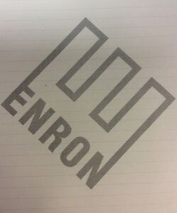"""Collectible Enron Logo Lined Notepad  8 1/2"""" x 7 1/4"""" Original Swag 14 pages"""