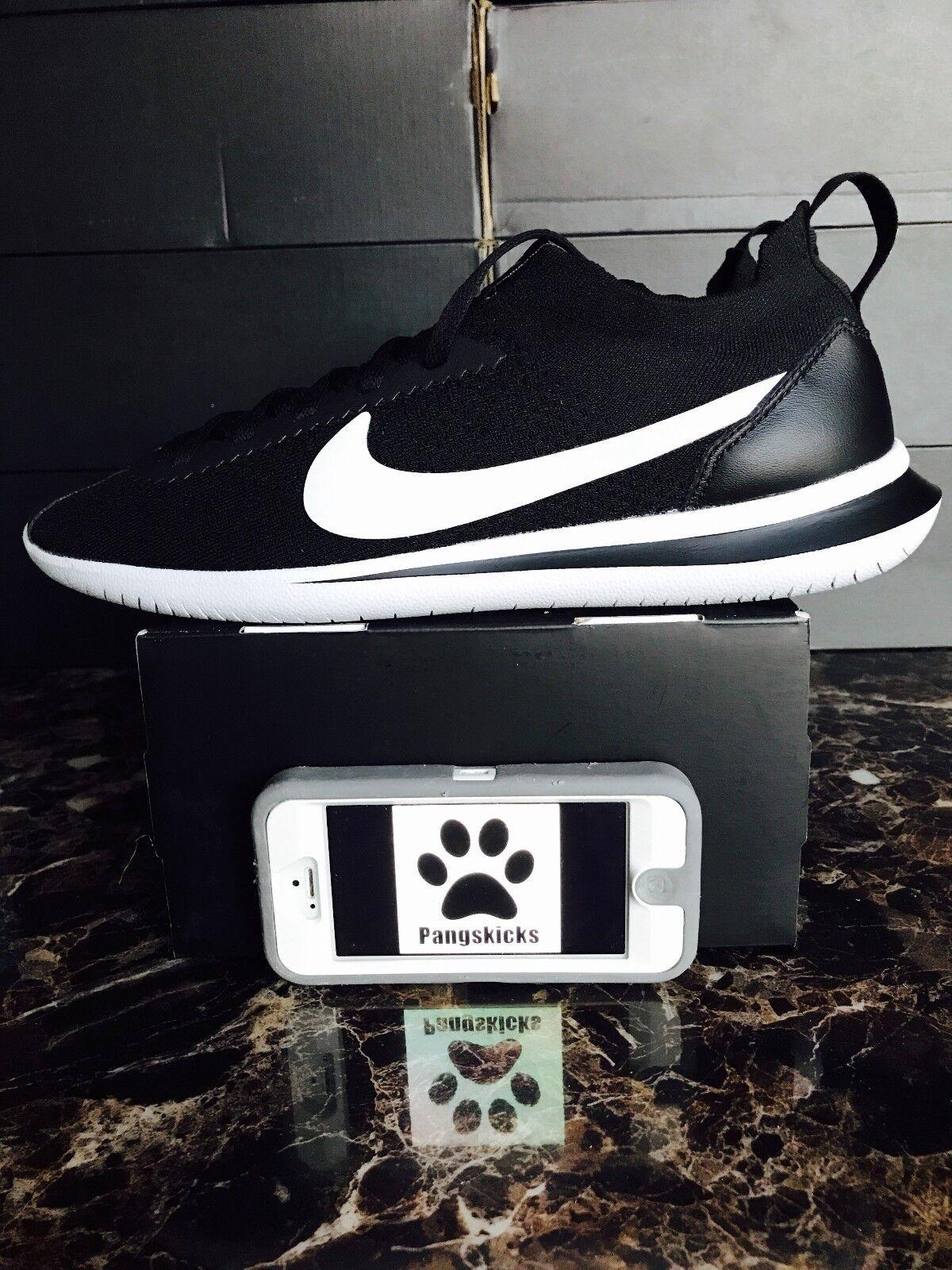 Nike NikeLab Cortez Flyknit Black White AA2029-001 Size 7 = Women's 8.5