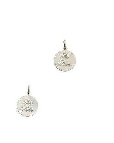 """Sterling Silver Big Sister or Little Sister Pendant with chain 16,18 or 20/"""""""