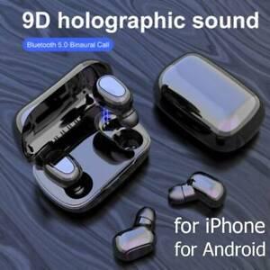 Mini-Bluetooth-5-0-Headset-TWS-Drahtlose-Kopfhoerer-Stereo-Kopfhoerer-Ohrhoerer