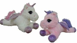 Peluche-Unicorno-enorme-gigante-40-cm-con-ali-2-colori-a-scelta-sdraiato-steso