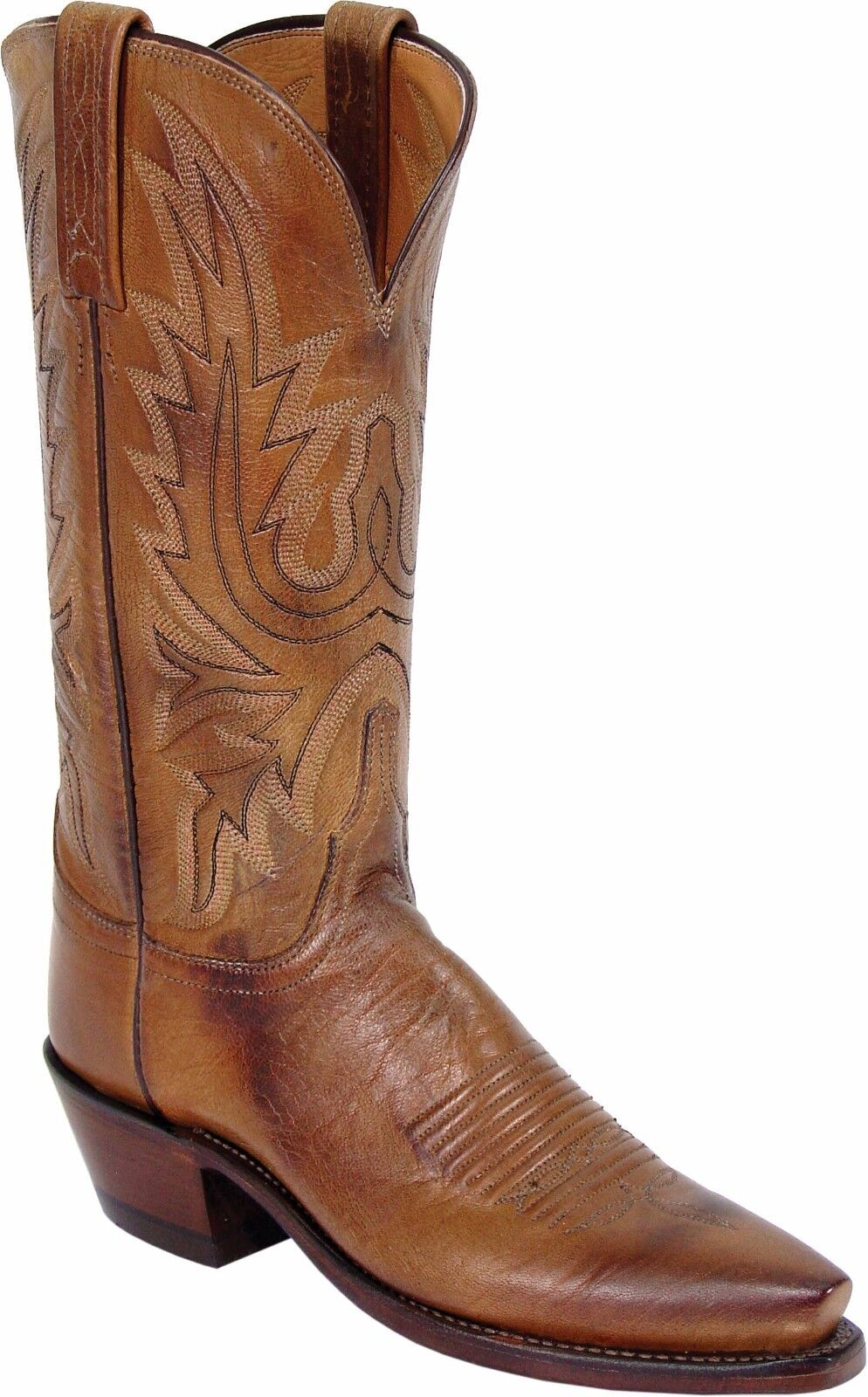 Lucchese N4540 N4540 Lucchese 5/4 Womens Western Boots Tan Burnished Mad Dog Goat Leather NEW f42249