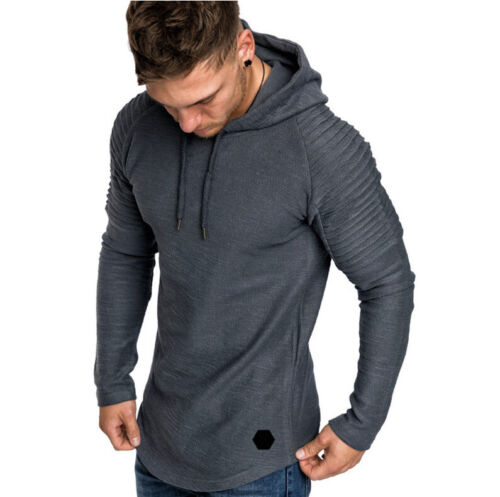 Fashion Men/'s Gym Bodybuilding Hoodie Casual Breathable Sportswear Pullover Tops