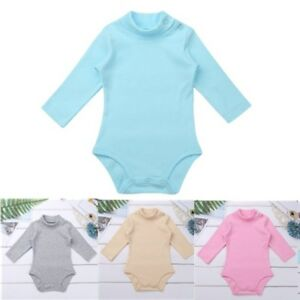 05f4cff5c Image is loading Toddler-Girls-Boys-Solid-Romper-Long-Sleeve-Jumpsuit-