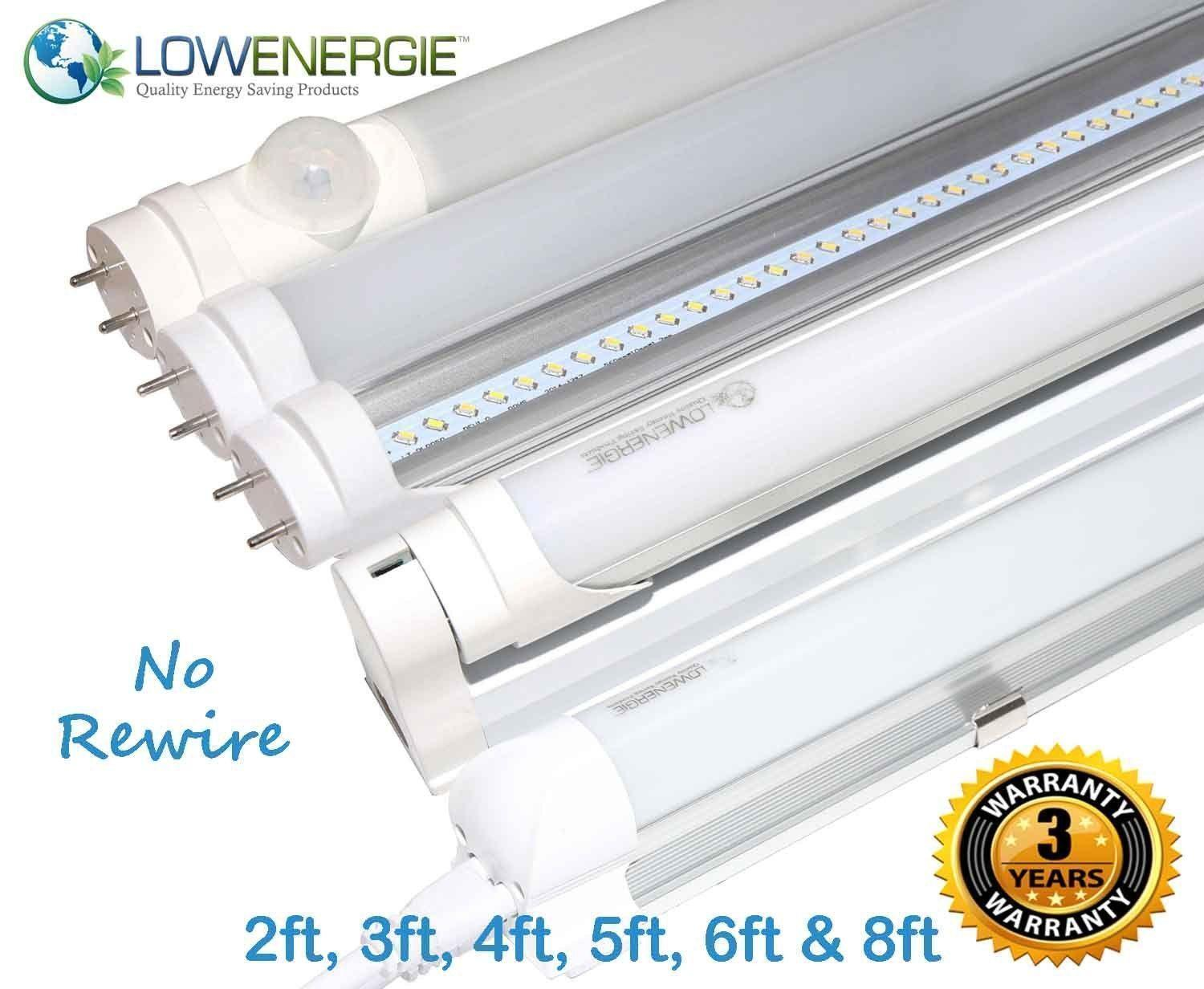 LED Tube Lights Retrofit Fluorescent energy saving T8 T12 frosted or clear light