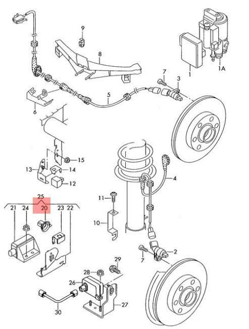 Genuine Acceleration Sensor With Holder And Clip Lhd Vw Beetle Golf