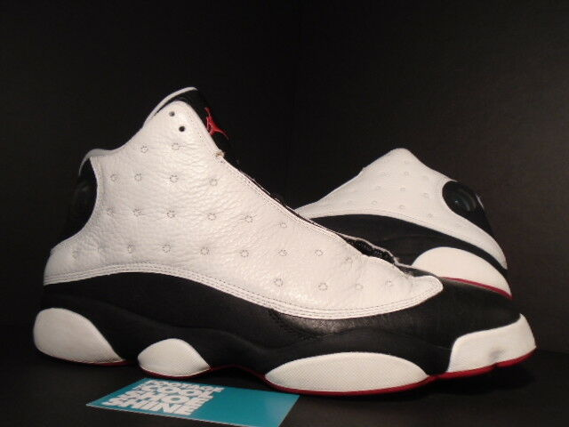 2013 Nike Air Jordan XIII 13 Retro HE GOT GAME WHITE BLACK TRUE RED 309259-104