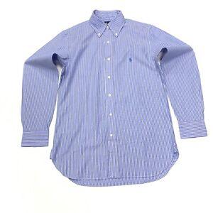 Ralph-Lauren-Para-Hombres-Camisa-Classic-Fit-a-Rayas-en-Azul-Blanco