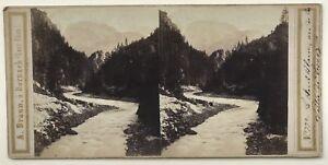 Vallée Da Servoz Chamonix Monte Bianco Foto A. Braun Vintage Stereo Albumina