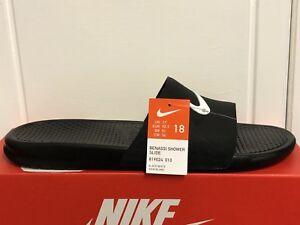 new arrival fe8af 9bcbc Image is loading Nike-Mens-Benassi-Shower-Slide-Flip-Flop-Beach-