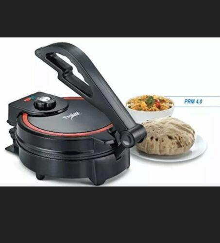 Prestige Electric Roti Maker Chapati Flat Bread Tortilla Pizza Papad Maker