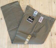 NWT Mens Khaki DOCKERS SIGNATURE Flat Front Pants Size 38W 29L $58