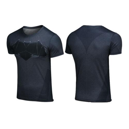Batman Superhero Marvel Compression Men Top T-shirt Bicycle Jersey Sport Shirts