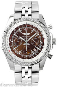 Pre owned breitling bentley motors bronze dial special for Breitling watches bentley motors special edition a25362