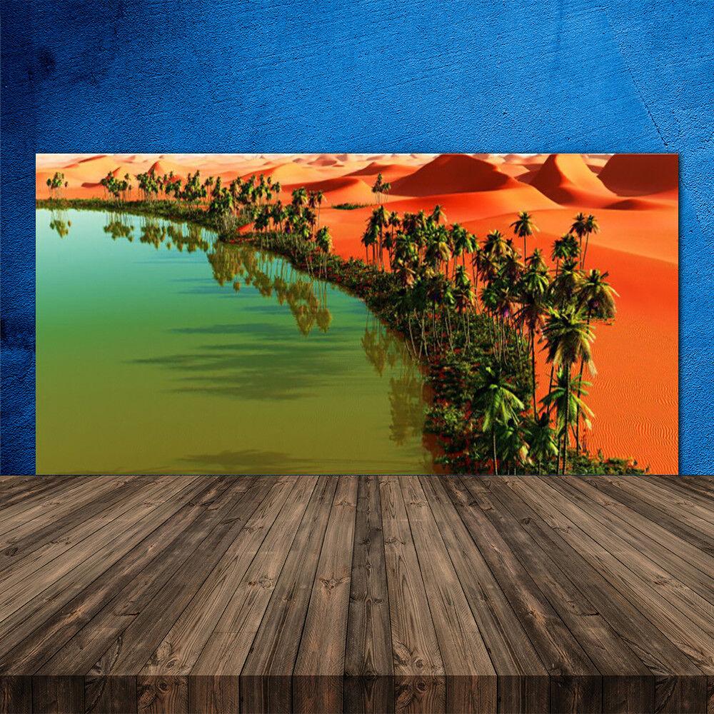 Crédence de cuisine en verre Panneau 120x60 Paysage Baie Désert Arbres