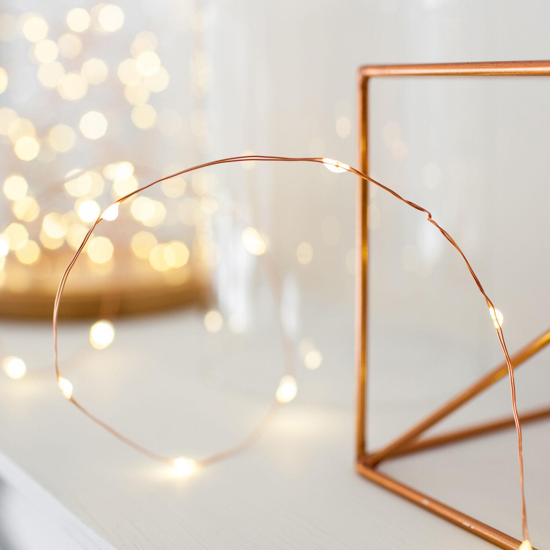 1-10x 20er LED Micro Lichterkette Kupfer Draht Deko Beleuchtung Ostern Muttertag