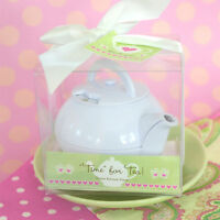 25 Tea Time Teapot Timer Birthday Bridal Shower Wedding Favors In Gift Box